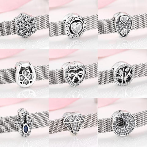 Sparkling 925 Sterling Silver Clip Lock Charms - The Luffy Store