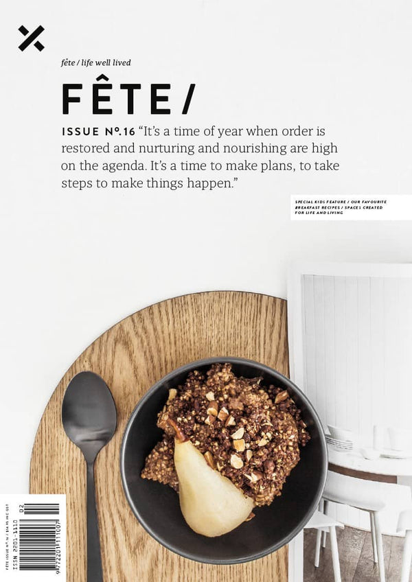 Crop stool by Relm Furniture featured in fete magazine