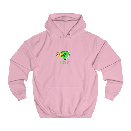 V DAY DROP HOODIE WITH LOC - PINK