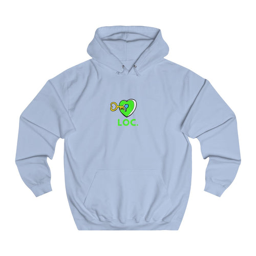 V DAY DROP HOODIE WITH LOC - BLUE
