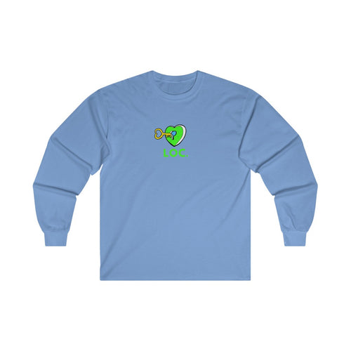 V DAY DROP LONG SLEEVE TEE - BLUE