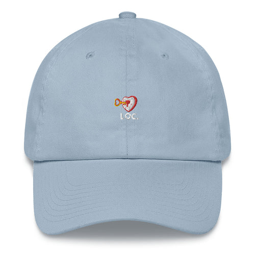 V DAY DROP DAD HAT WHITE ON RED - BLUE