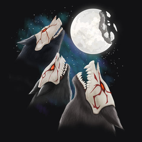 RWBY Three Beowolf Moon Shirt