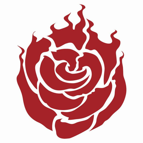 RWBY Ruby Emblem Vinyl Decal (Red)