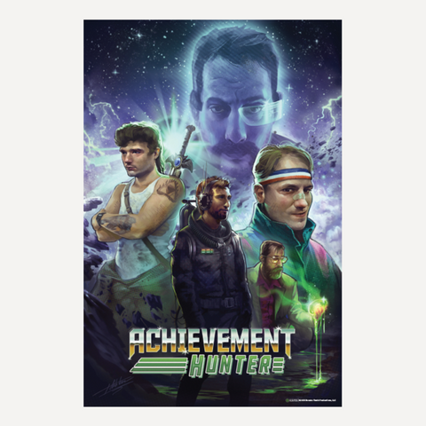 "Achievement Hunter 80's Poster (24"" x 36"")"