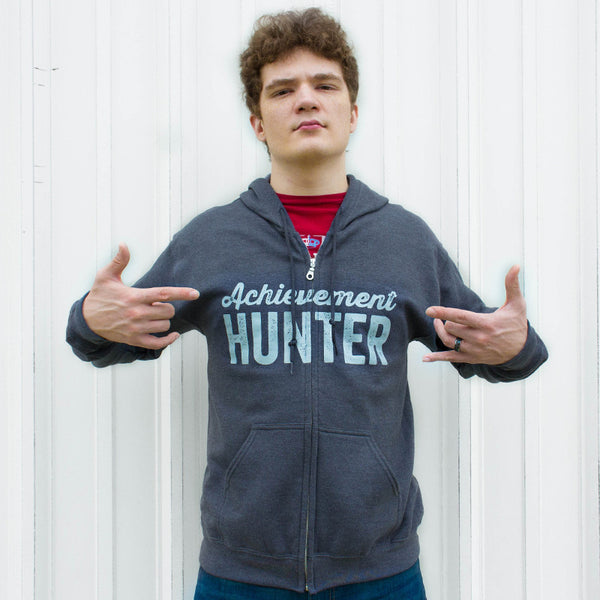 Achievement Hunter Grey Logo Zip Hoodie