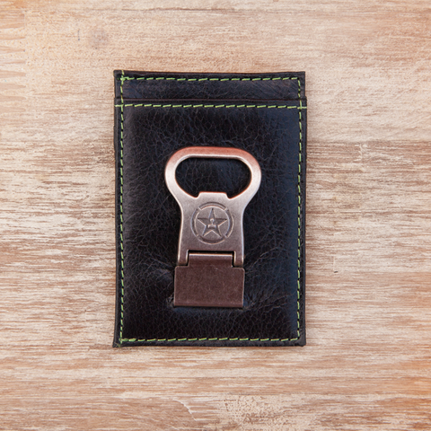 Achievement Hunter Leather Card Case w/Bottle Opener