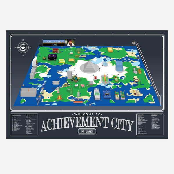 AH Achievement City Map Poster