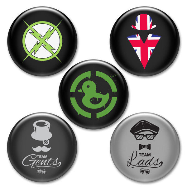 Achievement Hunter Button Pack #1