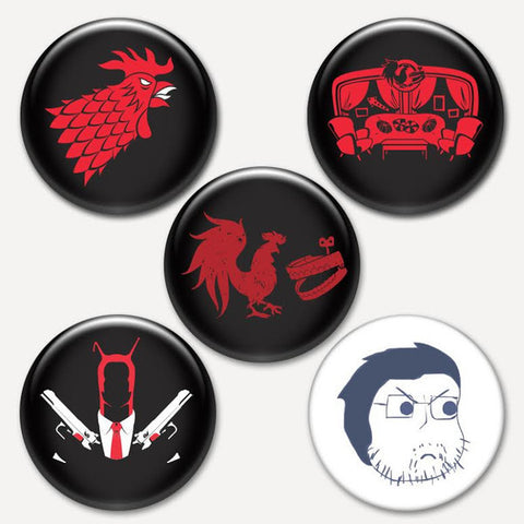 Rooster Teeth Button Pack #3
