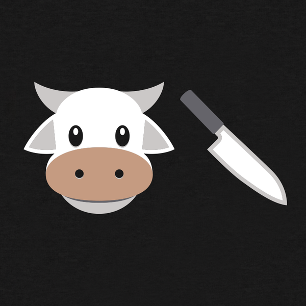 Cow Chop Emoji Shirt