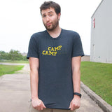 Camp Campbell Distressed Logo Shirt Gray