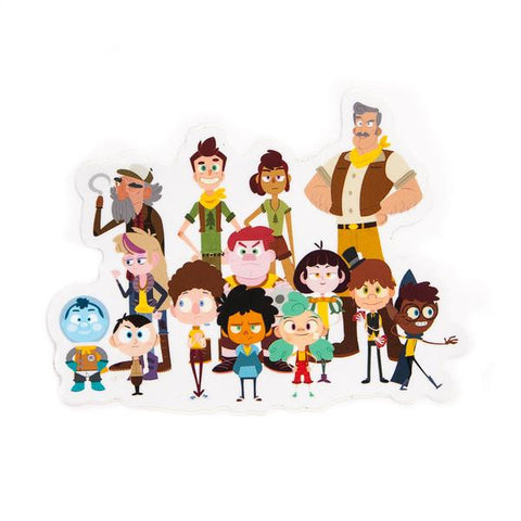 Camp Camp Characters Vinyl Decal