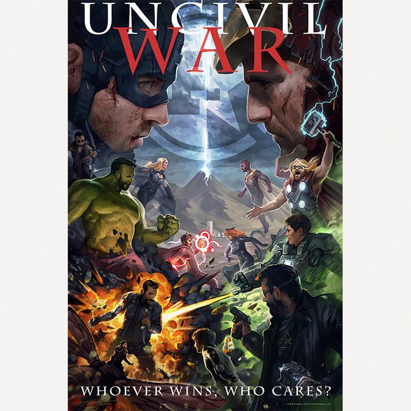 "AH vs FH Uncivil War Poster (24"" x 36"")"