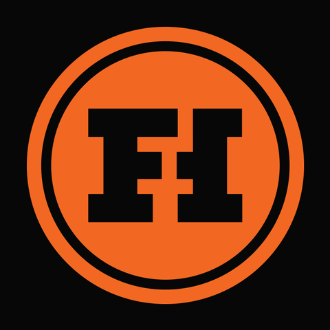 Funhaus Logo Vinyl Decal (Orange)