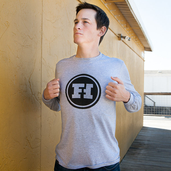 Funhaus Logo Grey Long Sleeve Shirt