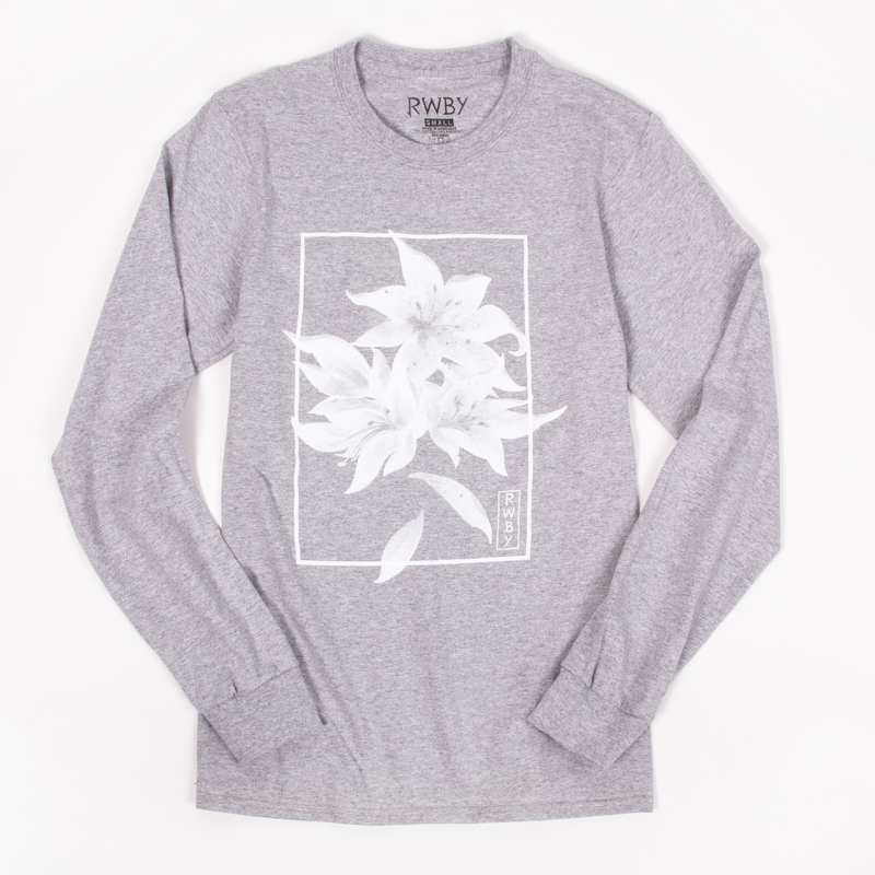 RWBY Weiss Floral Long Sleeve T-Shirt