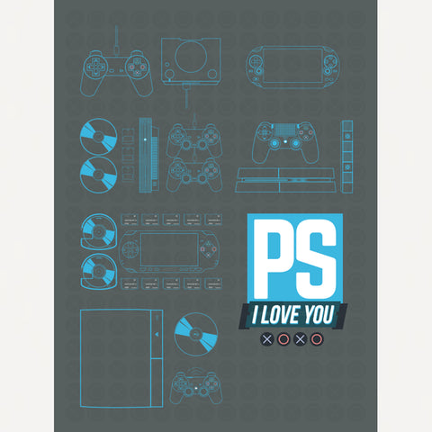Kinda Funny PS I Love You XOXO Poster