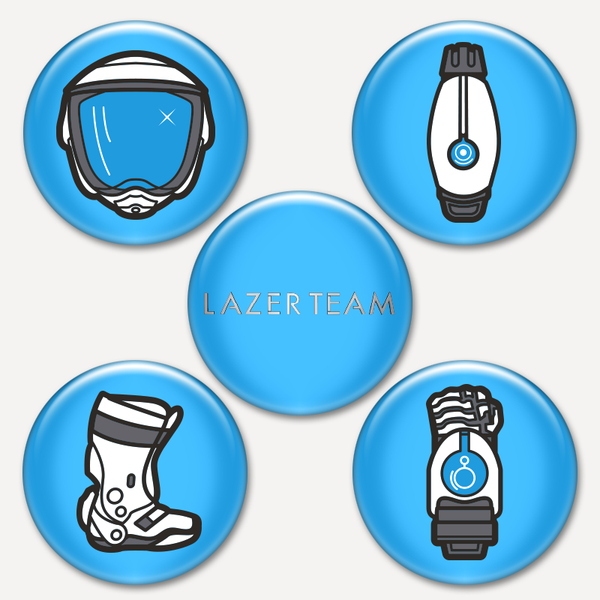 Lazer Team Button Pack #1