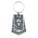 Mad King Embossed Metal Keychain