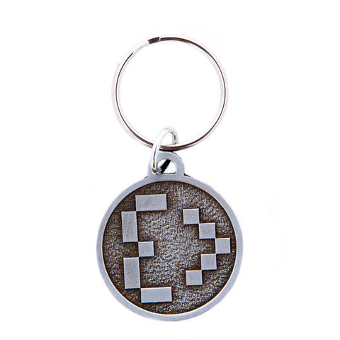 Meg Turney Heart Embossed Metal Keychain