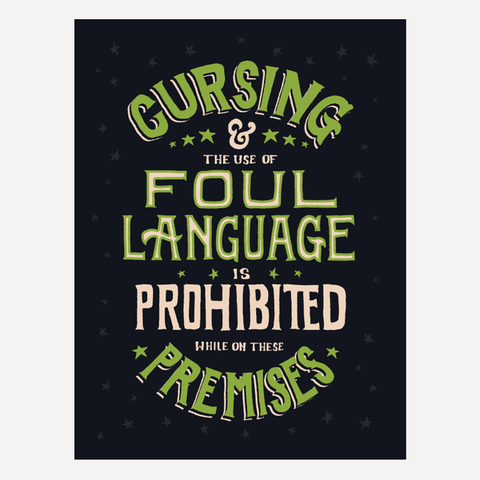 "AH Off Topic Foul Language Poster (18"" x 24"")"