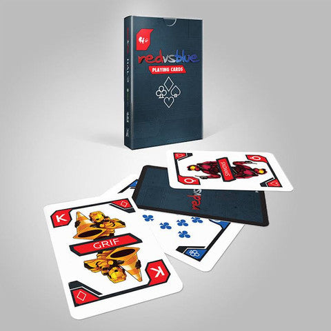 Red vs Blue Playing Cards