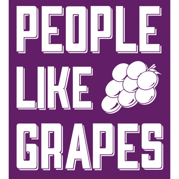People Like Grapes Vinyl Decal