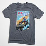 Red vs. Blue Road Trip Tee