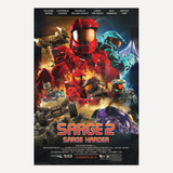 "RvB Sarge 2: Sarge Harder Movie Poster (24""x36"")"
