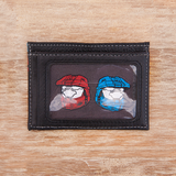 Red vs Blue Leather Card Case