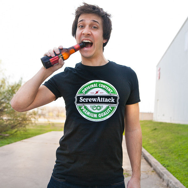 ScrewAttack Beer Label Shirt