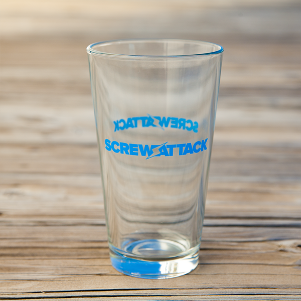 ScrewAttack Logo Pint Glass