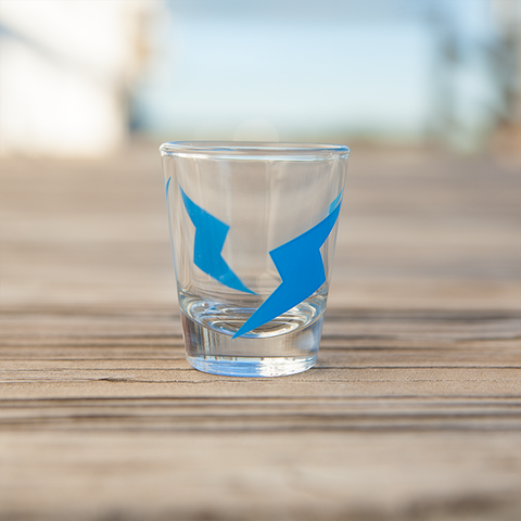 ScrewAttack Bolt Logo Shot Glass