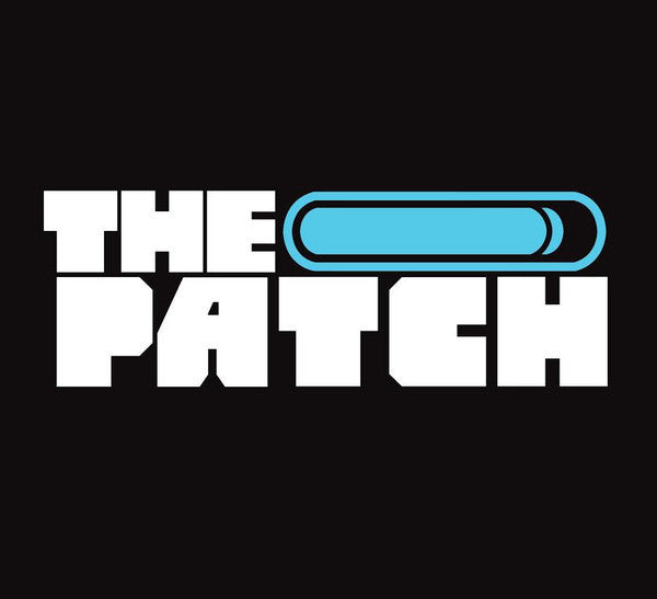 The Patch Logo Vinyl Decal (White/Blue)
