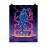 Rooster Teeth 18th Anniversary Poster Nebula Colorway
