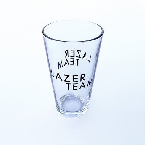 Lazer Team Logo Pint Glass