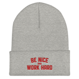 Rooster Teeth Be Nice & Work Hard Embroidered Beanie