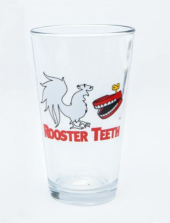 Rooster Teeth Logo Pint Glass