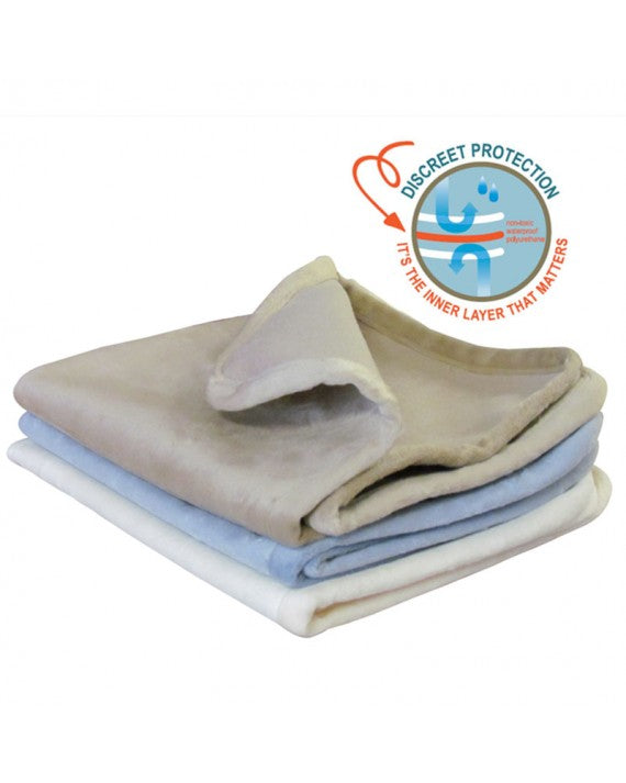 Gotcha Covered 100% Waterproof Plush Throws - Great For Ultimate Protection From Incontinence
