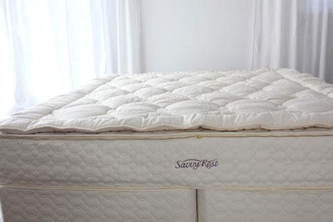 Savvy Rest Woolsy Organic Wool Mattress Topper