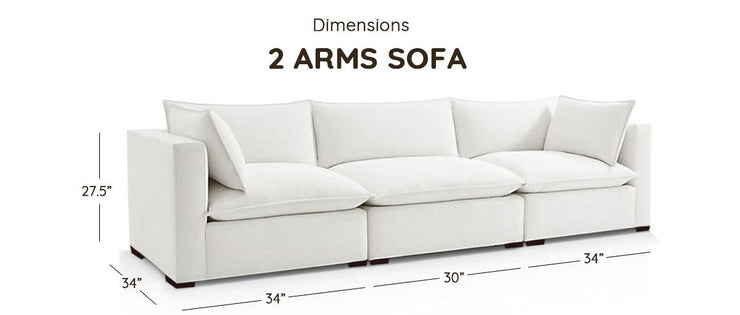 Certified Organic Two-Arm Modular Sofa