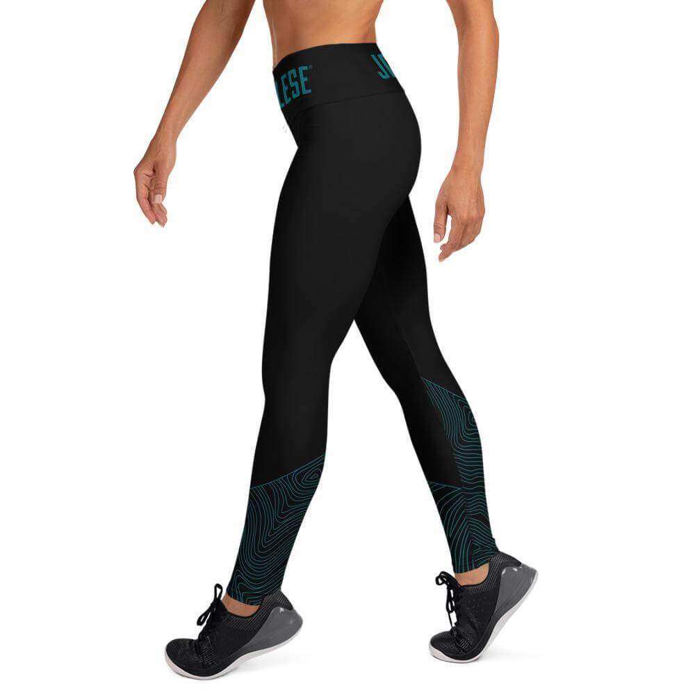 petrol wave performance Leggings schwarz