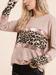 Sweater Leopard Sequin