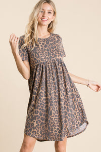 Leopard Print t-shirt Dress