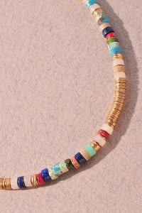 Multicolor ring wrapped Necklace