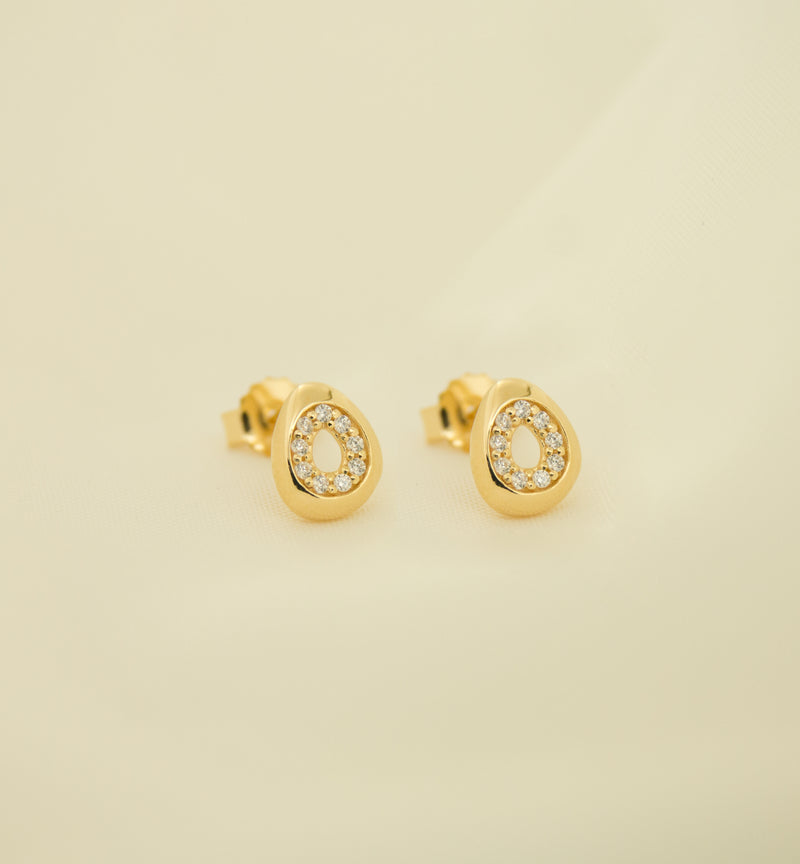Silver 925 Earrings with Cubic Zircon Stones