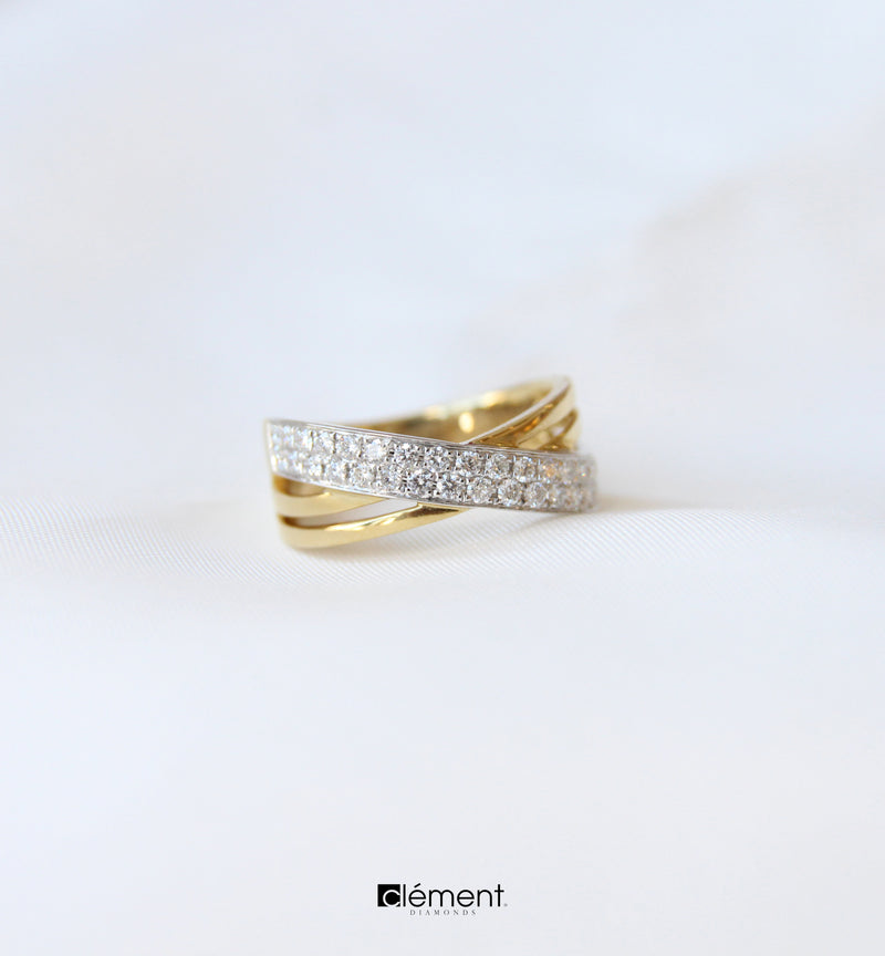 18ct Gold Two-Tone Diamond Ring