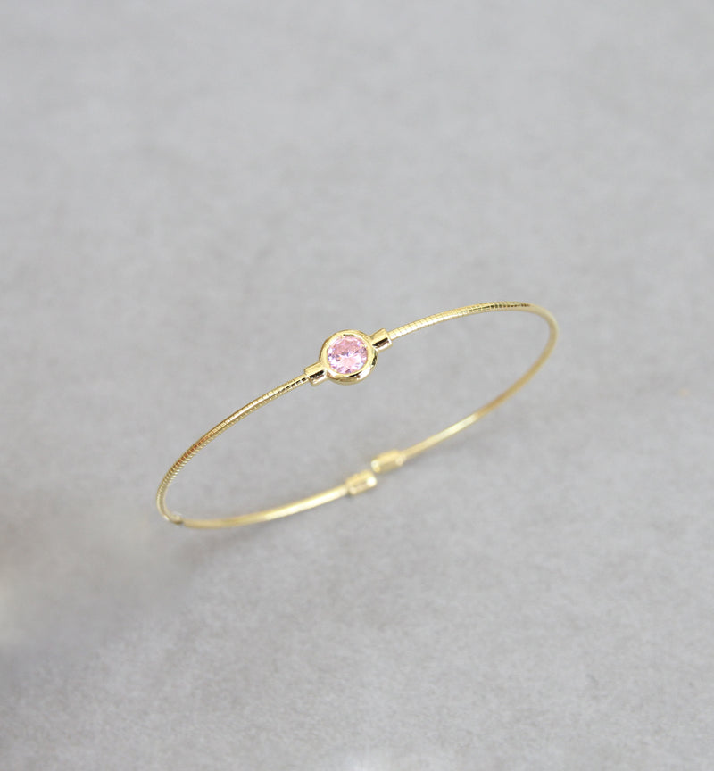 October Opal/Tourmaline Birthstone Bangle