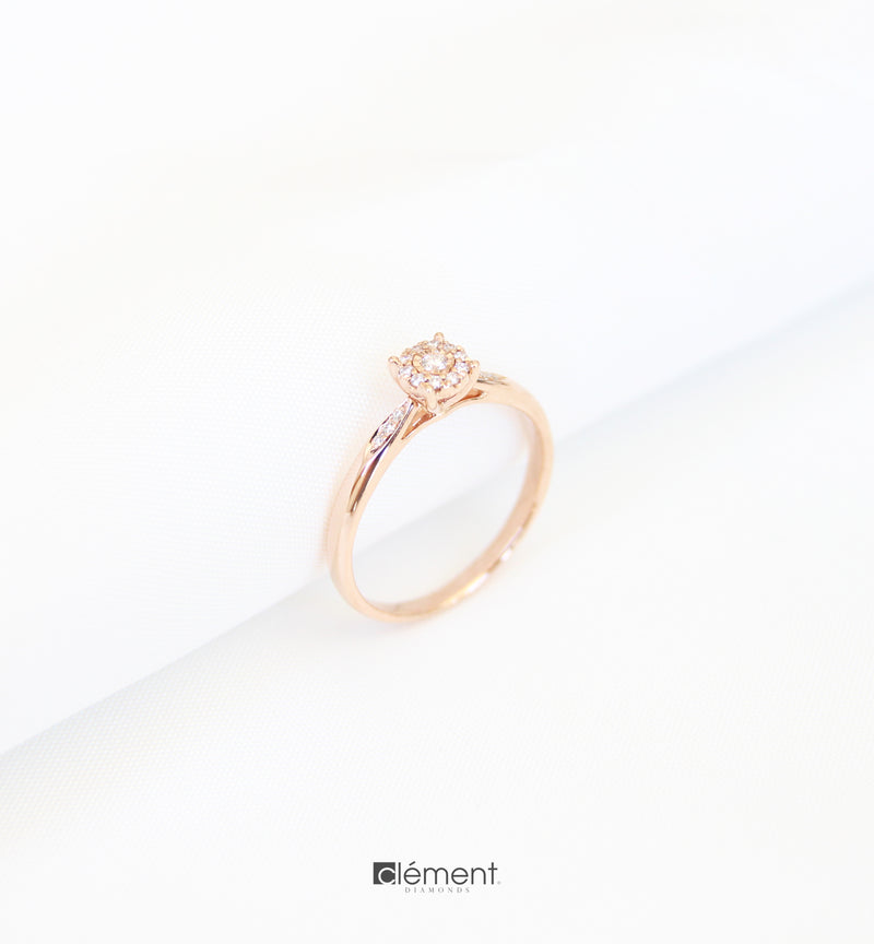 18ct Rose Gold Diamond Solitaire Ring